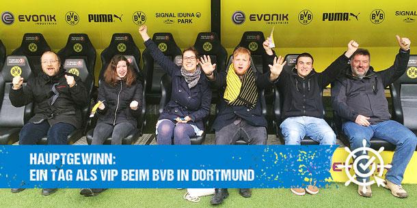 Hauptgewinn: Ein Tag als VIP beim BVB in Dortmund