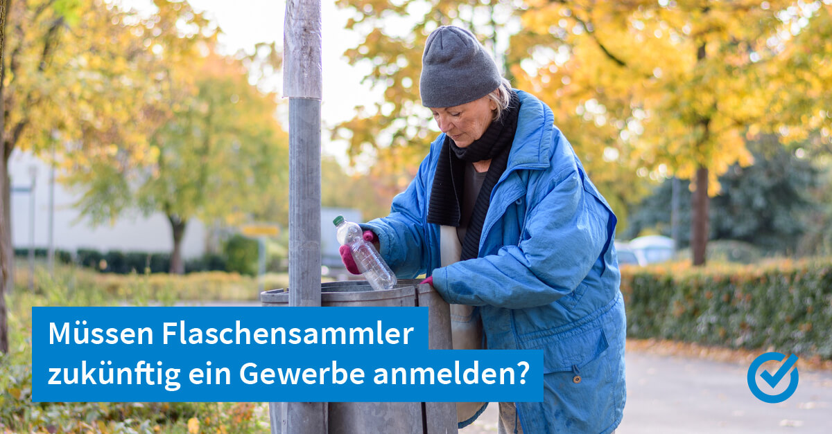 Det is Berlin: Flaschensammler mit Gewerbeschein