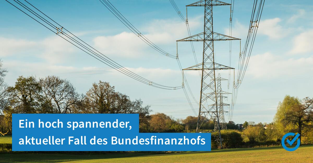 Eine Stromleitung und die Steuer
