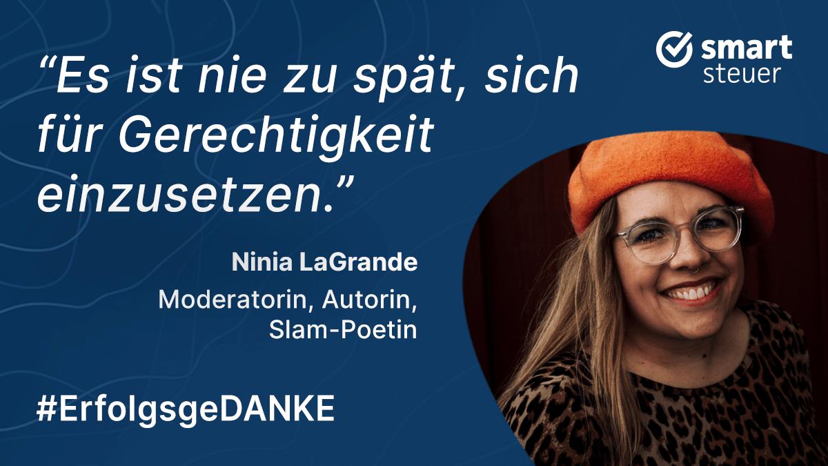 Podcast: ErfolgsgeDANKE mit Ninia LaGrande, Moderatorin, Autorin und Slam-Poetin