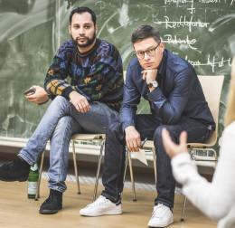 Ric Ferrer und Andy Lenz beim Ideenpitch