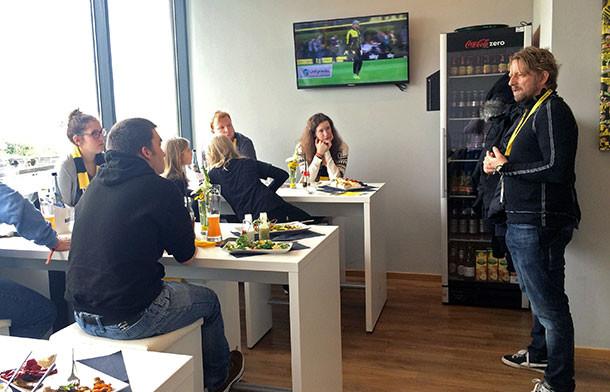 Die Fans zu Gast in der Borussia Business Loge