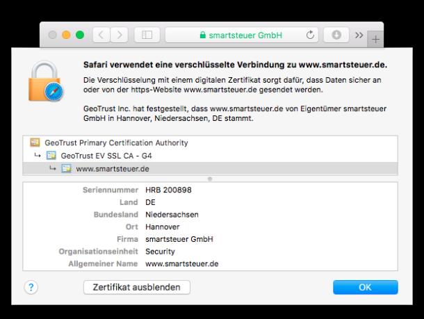 smartsteuer: Zertifizierte Sicherheit