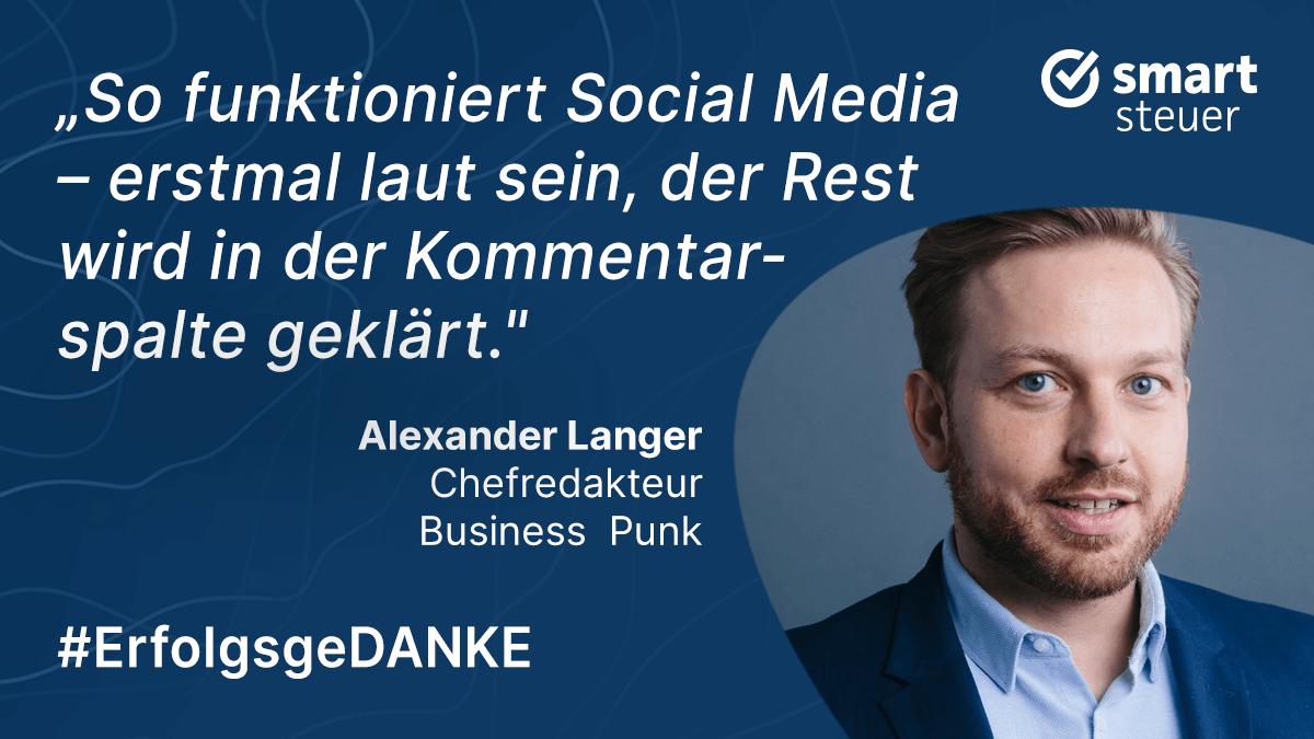 Podcast: ErfolgsgeDANKE mit Alexander Langer, Chefredakteur Business Punk