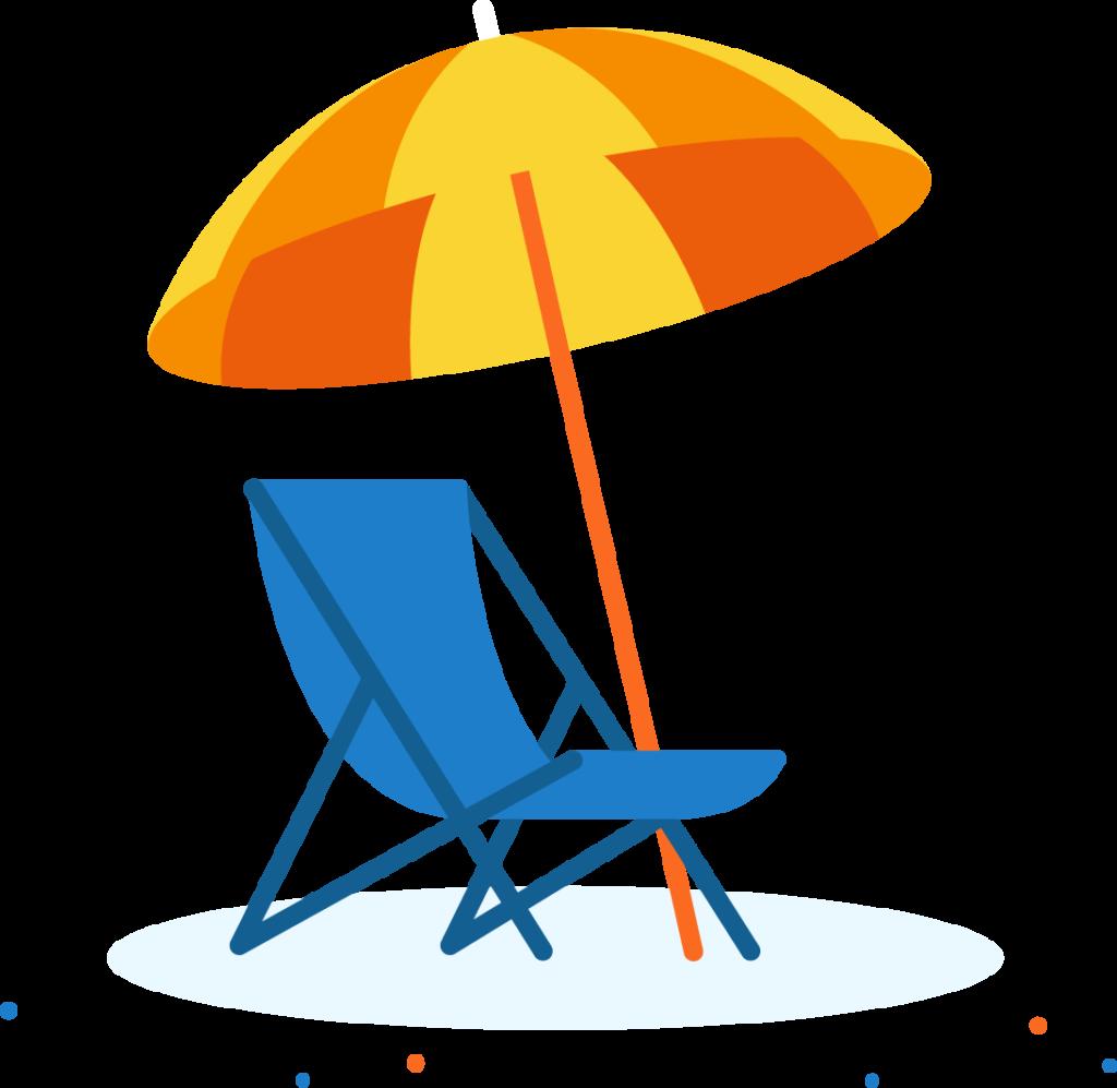 Urlaub Liegestuhl